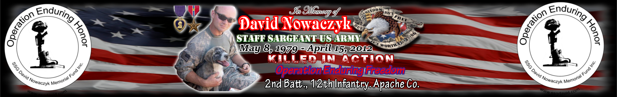 SSG David Nowaczyk Memorial Fund Logo
